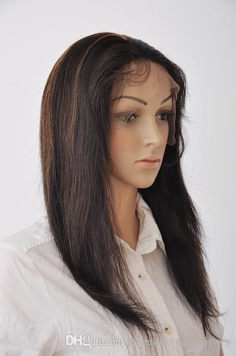 Top Feeling Glueless Lace Front Wigs Human Hair For Black Women Human Hair Wig Straight Brazilian Wig #1b/30# Highlight