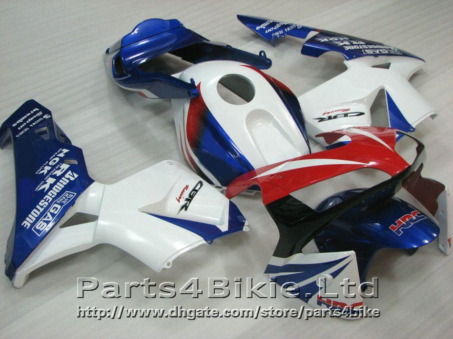 100% Fit HRC bodykit for Honda fairings CBR600RR 2003 2006 Injection Mold white fairing kit CBR 600 RR CBR 600RR 03 04 WJUX