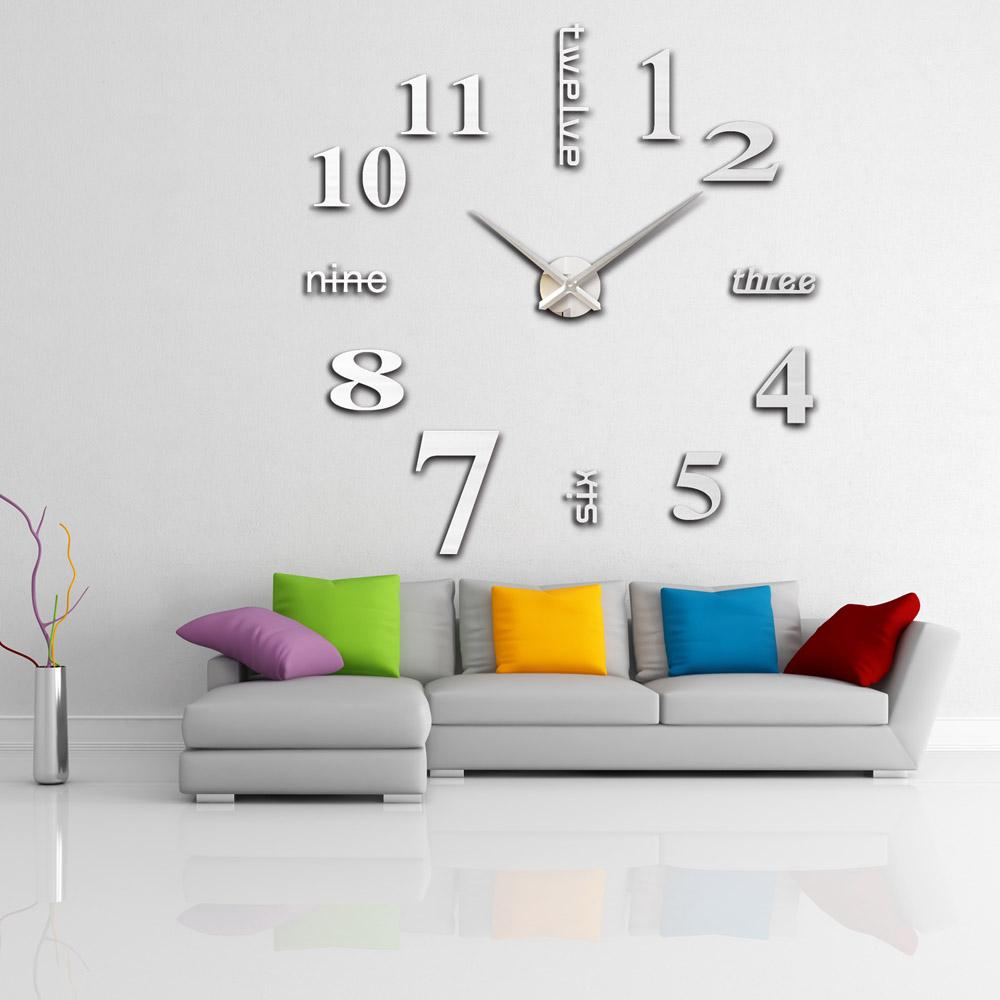 creative designs mirror wall clock large. Anself DIY Large Watch Wall Clock Modern Design Creative Stickers Mirror  Effect Acrylic Glass Decal Home Decoration Horloge Murale H15029