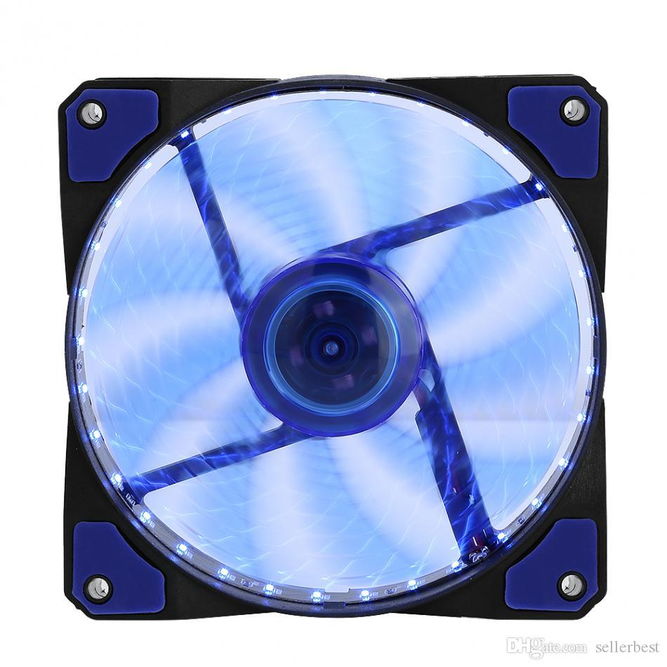 СВЕТОДИОДНЫЕ Silent Fans Радиатор Радиатор Охладитель Вентилятор Для Компьютера ПК Радиатор 120 мм вентилятор 3 Огни 12 В Светящийся 3Pin 4Pin Plug