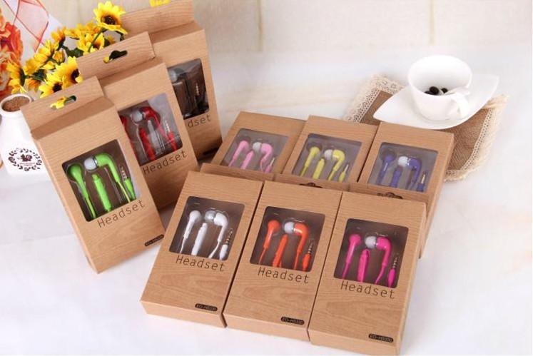 Mic and volume control Stereo Headsets In Ear Earphone Earbuds Headphones for Samsung note3 N7100 i9300 i9600 S5 S4 S3 colorful with box