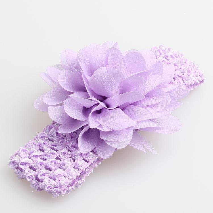 2017 Headbrap Do Bebê Headwrap Headwrap Lindo Arco Headwrap Multi Color Bebê Chiffon Flor Elastic Crochet Headbands Acessórios Para o Cabelo Do Bebê