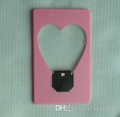 Hart Portemonnee Portemonnee Mini Draagbare Love Pocket LED-kaart Lichtlamp Zet in Portemonnee Licht Lamp voor Kinderen LED Toys Geschenken
