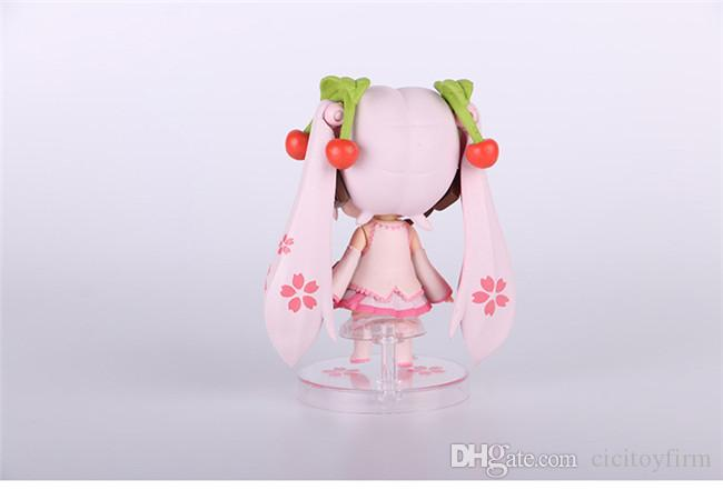 CICITOYFIRM Special Price Cute Nendoroid Q Version Mini #97a Sakura Hatsune Miku PVC 10CM Action Figure Collection Toy