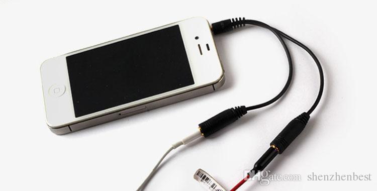 Аудио Преобразовательный Кабель 3.5 мм 1 Штекер На 2 Разъем Разъема Для Наушников Разветвитель Аудио Кабель-Адаптер 50 шт. / Лот