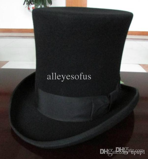 306e483b854 Source https   www.dhgate.com product wholesale-25cm-high-black-wool-top-hat -for 254537763.html
