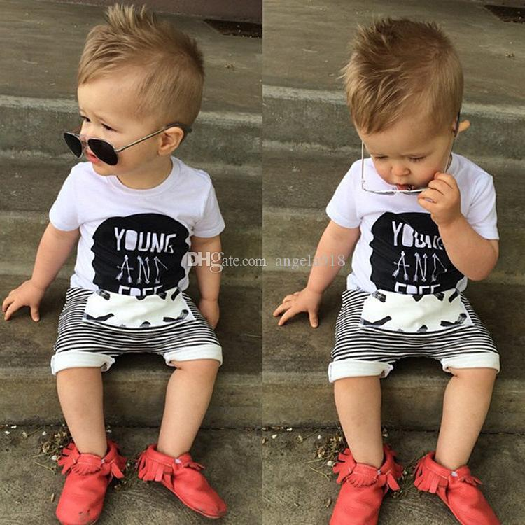NEW Ins Baby boys shorts stripe Haroun pants cotton 80-120cm Children's Shorts Jeans C593