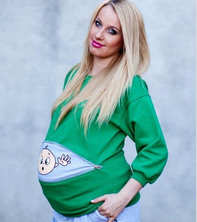 Long Sleeve Pregnant Women Halloween T-Shirts Cotton Pregnancy Pullover Shirts Maternity Tees cartoon Tops