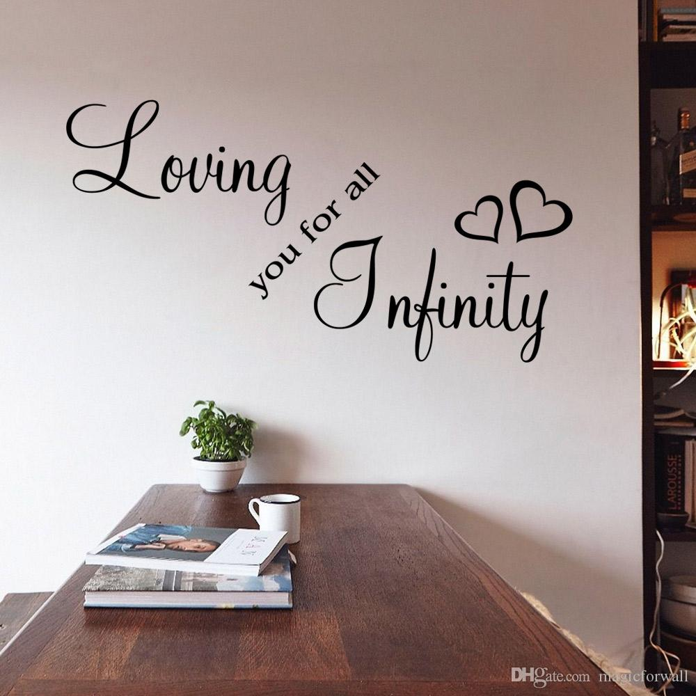 Loving you for all infinity wall QUOTE decal stickers Bedroom Decoration Mural Wedding Letter Wallpaper Decor Poster