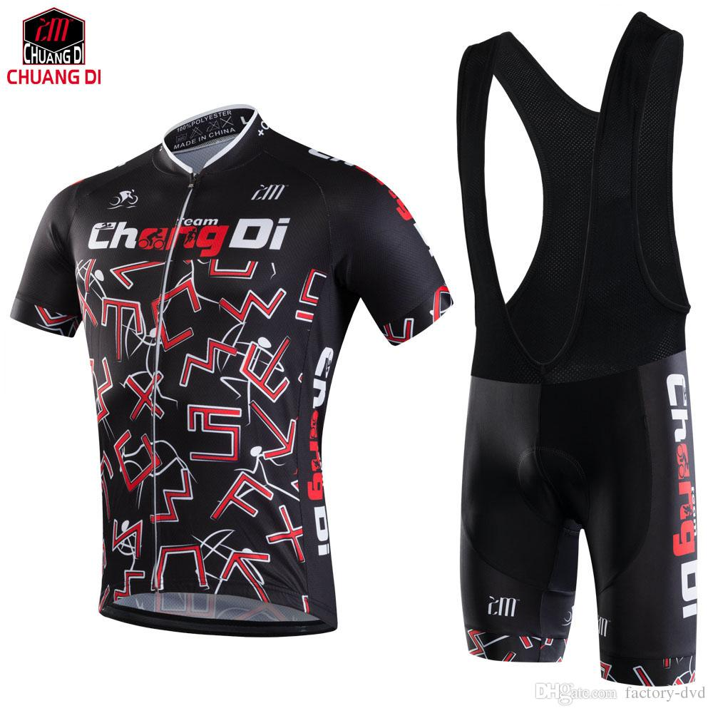 New CHUANGDI Cycling Jerseys Quick-Dry Ropa Ciclismo Cycling Jersey GEL Pad  Bike  Racing Bicycle Clothing Men Cycling Jersey Cycling Jersey Men Cycling  ... 6af701a04