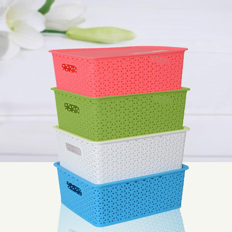 2018 3320 Woven Plastic Storage Box Finishing Baskets Storage Basket  Cosmetic Plastic Storage Number Cassette Cover From Zhoudan5248, $36.8 |  Dhgate.Com