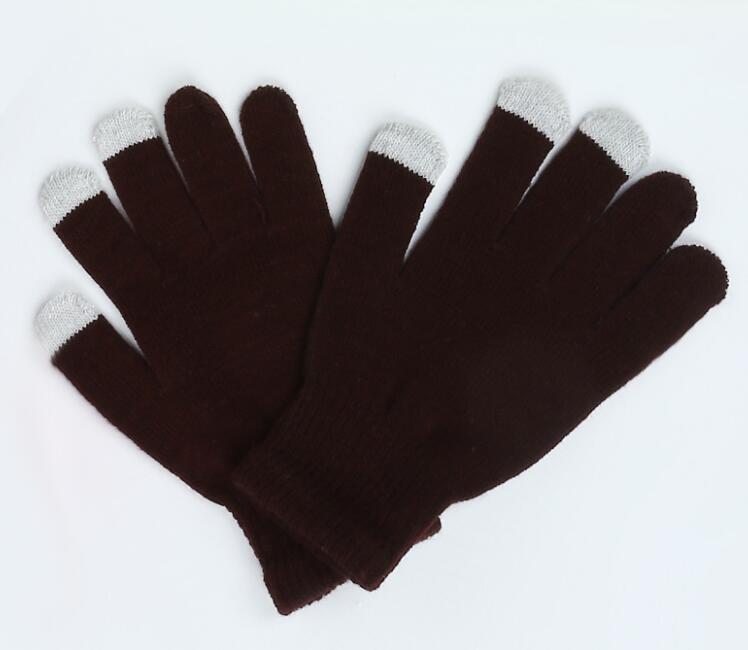 Touchscreen handschuhe mode warme winter strickhandschuhe multicolor unisex weihnachtsgeschenk für iphone ipad smartphone