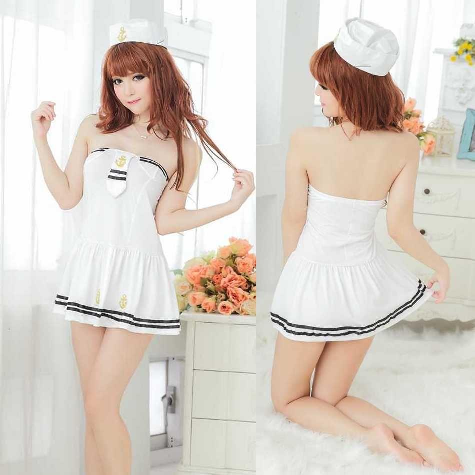 2017 The New Sexy Lingerie Dress Pretty Cute Teen Sailor ...