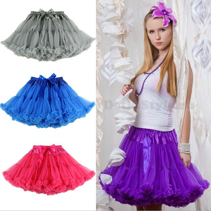 2017 European and American Women Mini Skirt Ladies Solid Chiffon Sexy Tulle Ball Gown Skirts Adult Tutu Pettiskirt for Womens