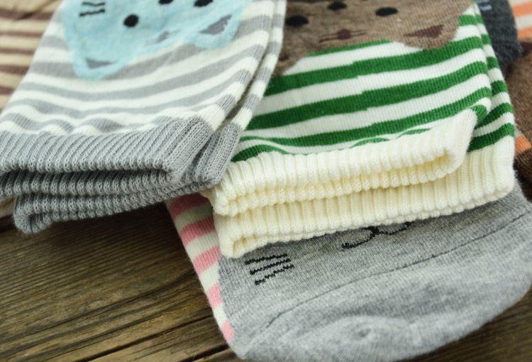 Cartoon Women Socks Fashion Korean Stirpe Cat Cotton Adult Socks Cute interest Striped Teenager knee-socks Cheap Socks W026