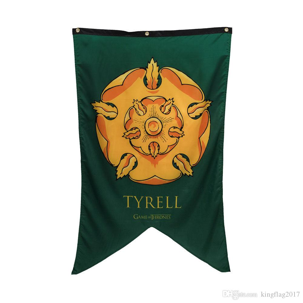 Game Of Thrones House Tyrell Licensed Banner Tapestry Outdoor Festival party Banner flag Custom USA Hockey Baseball College Basketball Flags