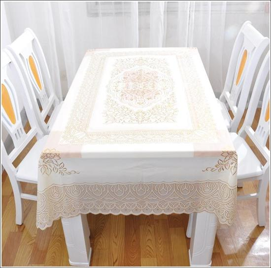 Tovaglia rettangolare calda famiglia bella tagliata e PVC stampaggio tovaglia vinile moda casa impermeabile e resistente alle alte temperature