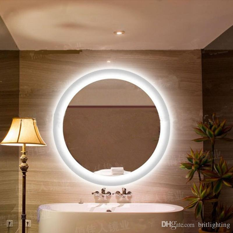 2018 anti fog mirror lamp bathroom mirror round led wall light 2018 anti fog mirror lamp bathroom mirror round led wall light waterproof mirror bathroom bedroom wall hanging led lights from britlighting aloadofball Choice Image