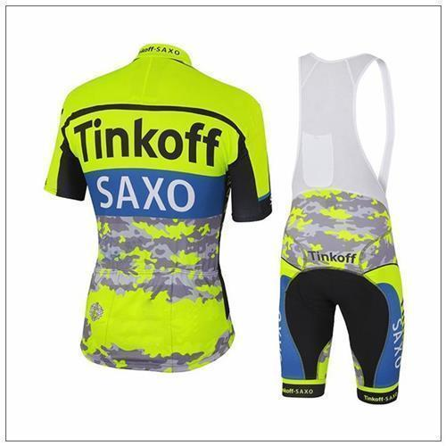 83b29682b Factory New Arrival Tinkoff Saxo Cycling Jersey Set Fluo Yellow ...