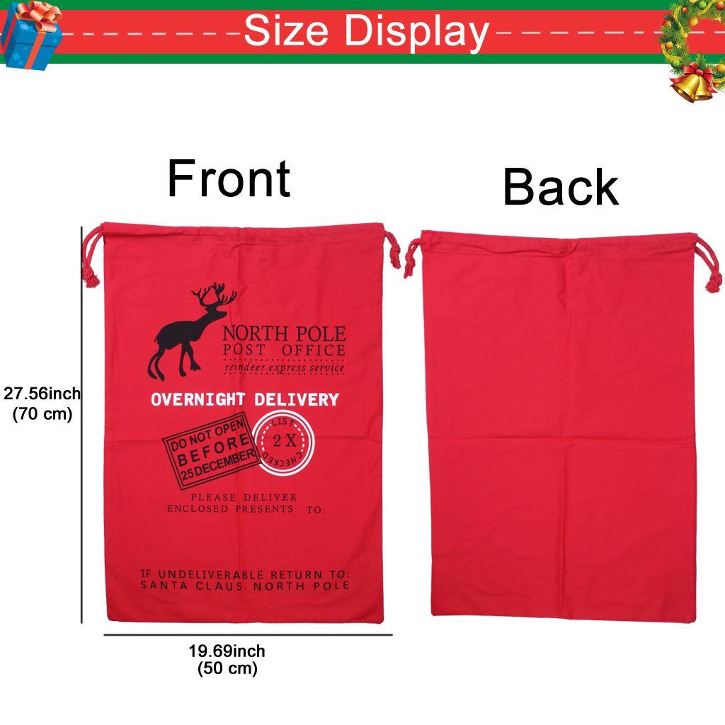 Рождественские подарки мешок хлопка холст хранения оленей шнурок сумка для упаковки подарка малыша с размером 300L-белый красный