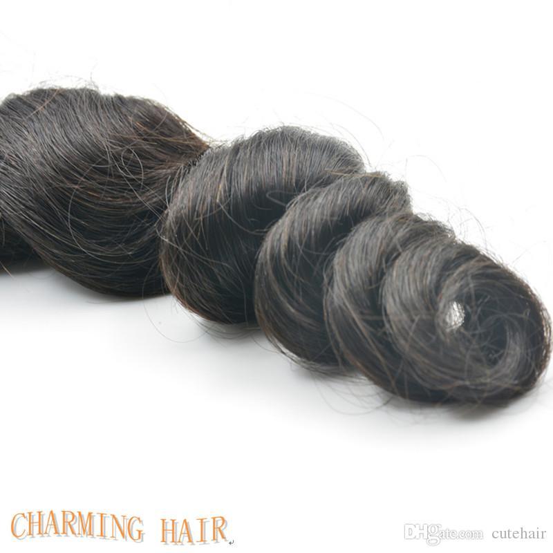 Brazilian Hair!!Cheap 8A Peruvian Brazilian Indian Malaysian Hair Extension Virgin Hair Loose Wave Hair Weft 10-26 inch