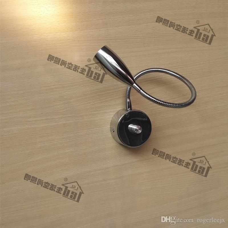 Topoch 12V Настенный свет для автомобилей Ручка Затемнение 15% -100% Tight 360мм Alumimum Шланг гибкий СИД CREE 3W 200LM Элегантный Chrome Finish