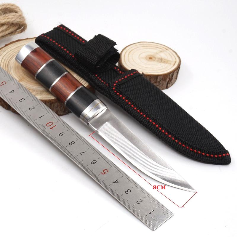 High Quality K30 Fixed Blade Knife Outdoor Portable Survival Hunting Tools For Camping Hiking Rescue Tactical Knife Aviation Wood Handle