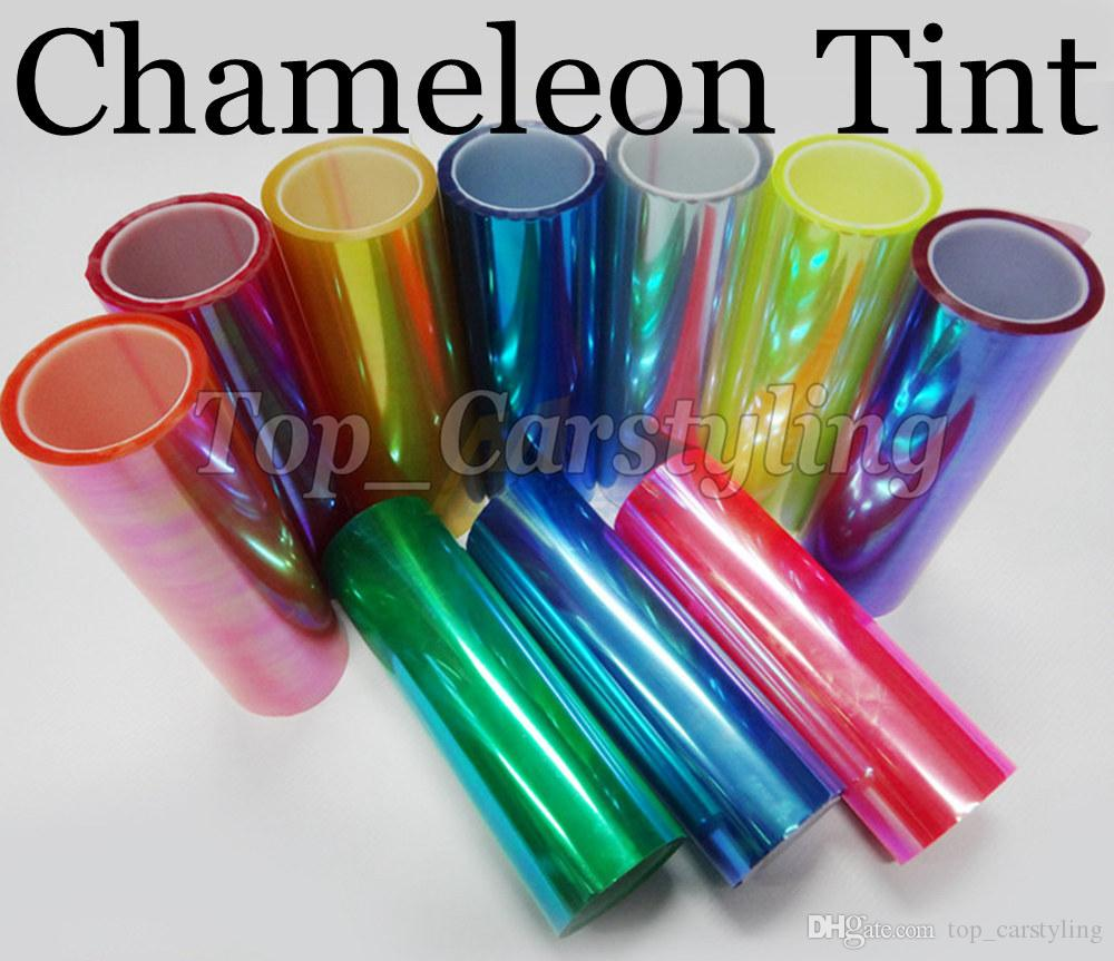 1 Roll Chameleon Headlight tint film rear car lights tinting Tail lights tint size 0.3x10m/Roll