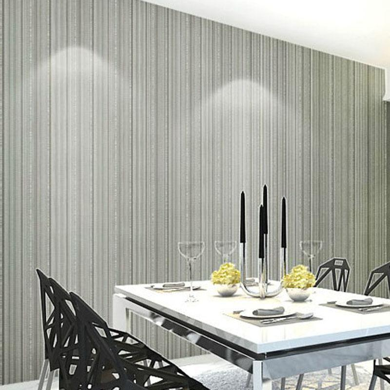 Modern 3D Vinyl Embossed Wall Paper Small Stripe Pinstripe Texture Contact Wallpaper For Living Room Balcony Mural Wallcovering High Quality Vi