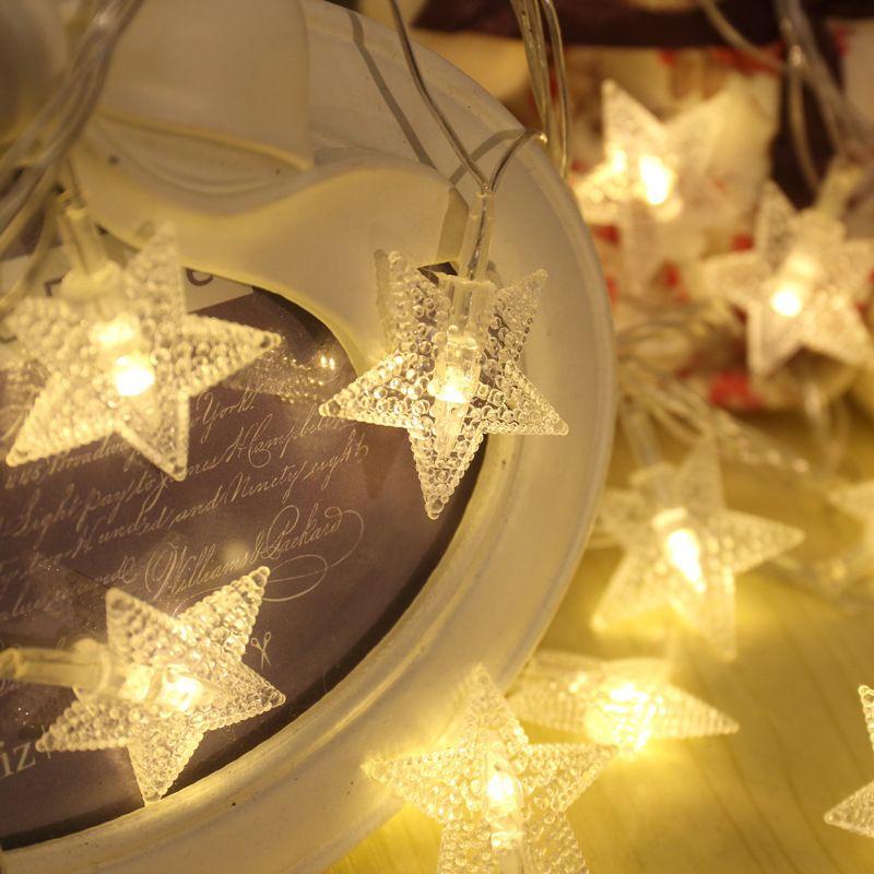 New Led Star Pointed Battery Lantern Lamp Night Lights Christmas ...