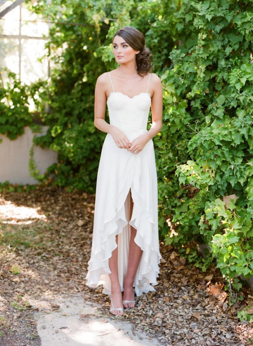 Discount Destination Lace Wedding Dresses Casual Short Front Long ...