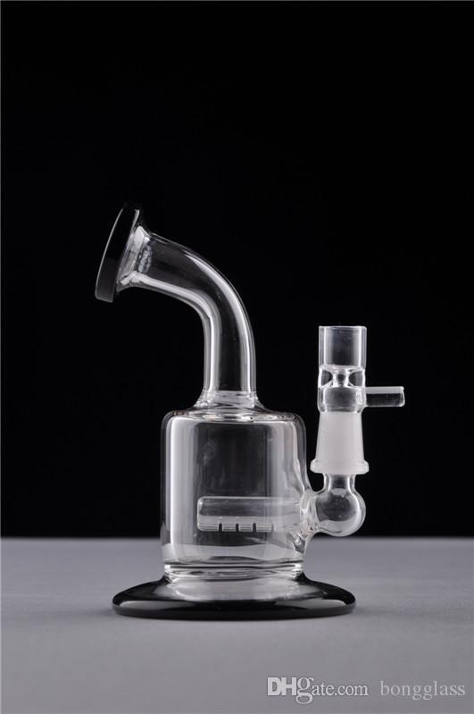 3.2 Inchs 미니 유리 기억 만 물 파이프 Downstem 퍼크 휴지통 석유 굴착 물 기억 만 유리 물 담뱃대 10mm 공동 파이프 흡연