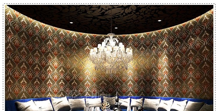 Modern 3D Gold Foil Wallpaper European Style Background The Living Room Papel De Parede Roll 53 M2 Space Spiderman