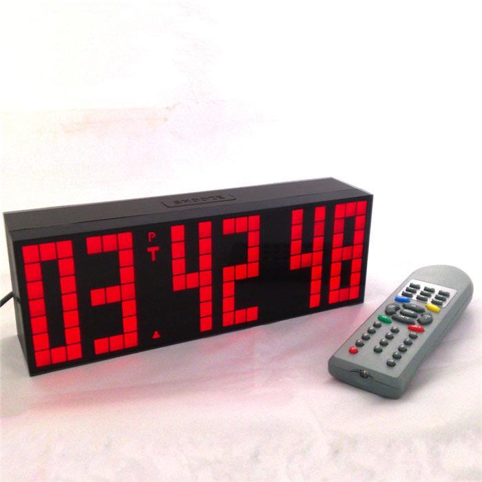 Big Rig Alarm Clock : Remote control big digital led alarm clock stadium