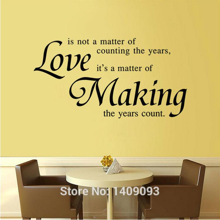 Love Vinyl Wall Quotes Decals Love Making Letter Bedroom Dinning ...