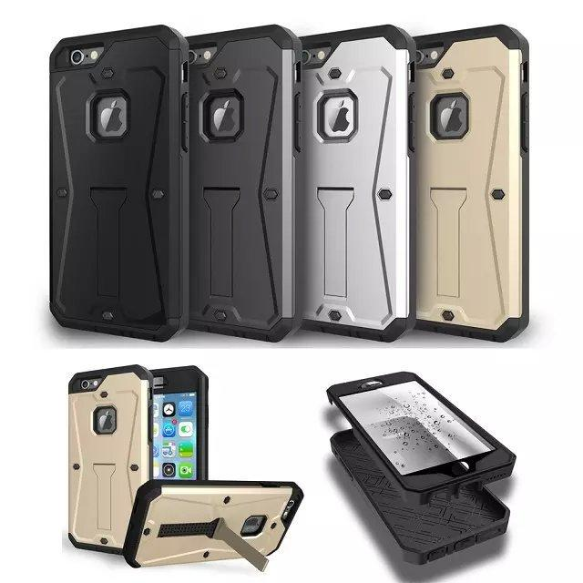 Wholesale hot selling New Shock-Absorbing Premium 3in1 Tank TPU PC TOUGH ARMOR PHONE CASE SKIN for Galaxy Note5 iPhone 6s With Kickstand