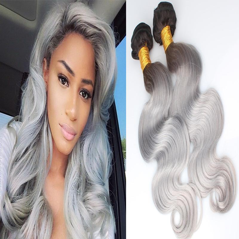 Ombre brazilian hair ombre grey hair weave bundle 1bgray ombre see larger image pmusecretfo Images