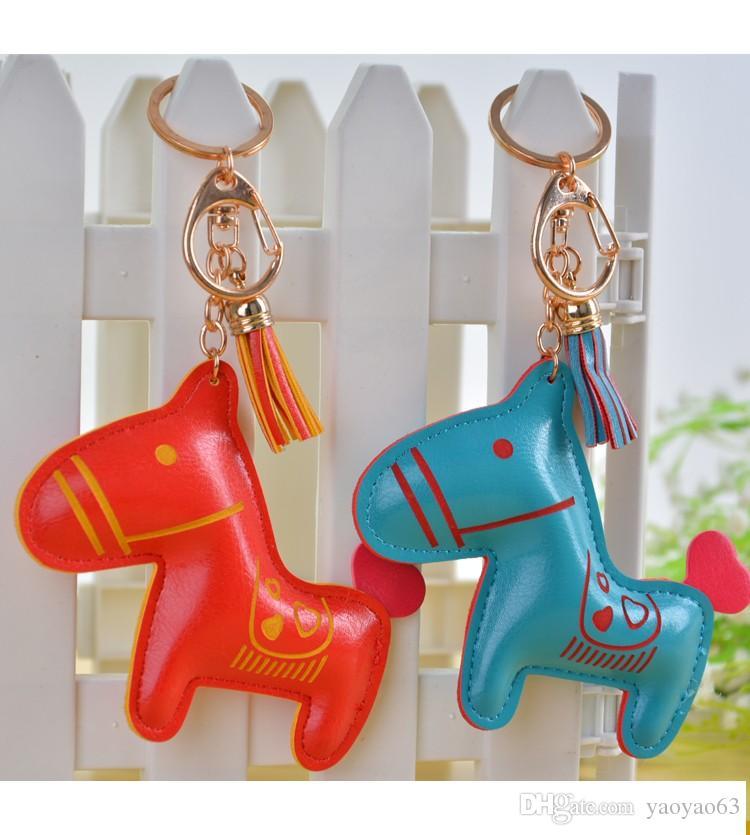 2016 mode bijoux cheval porte-clés porte-clés bijou porte-clés anneaux pour femmes nouveauté cadeau articles innovants sac pendentif