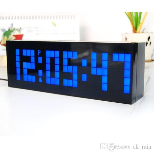Innovative Led Clock Modern Design Alarm Digital Electronic Wall Calendar Snooze White Kitchen Clocks