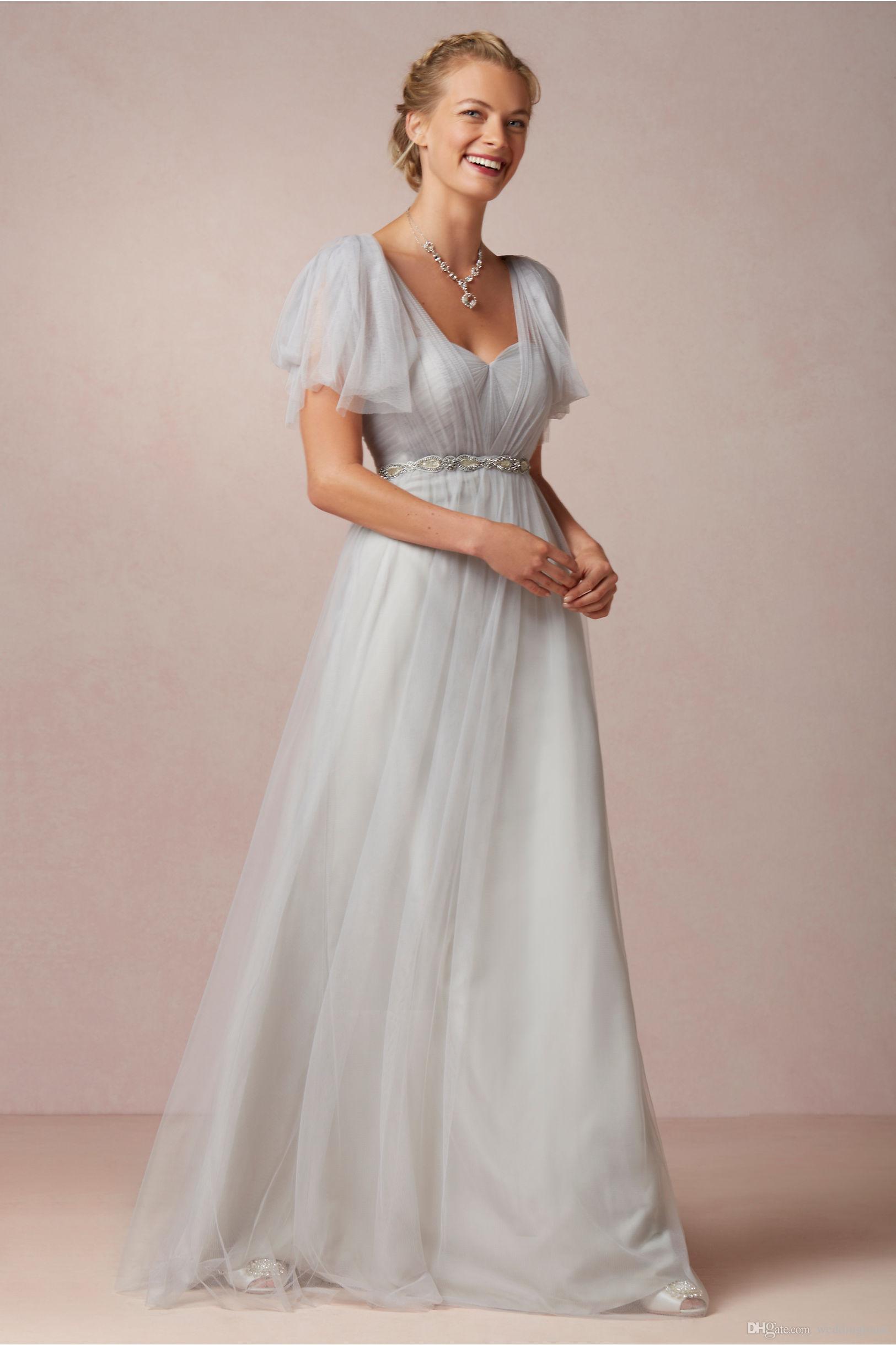 Bruidsmeisje jurken goedkope 2021 zilveren a-lijn converteerbare plooi tule meid eer speciale gelegenheid jurken voor bruiloft