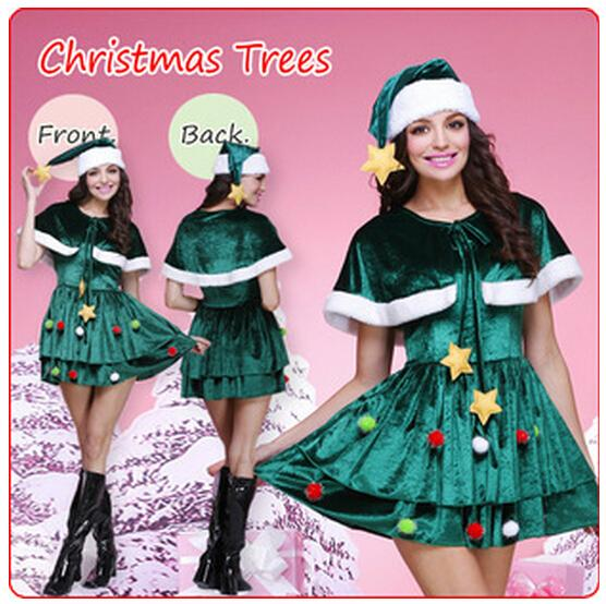 New Christmas Trees Costumes Women Dress Fancy Ball Costumes Cosplay ...