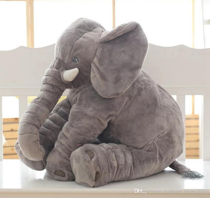 Free Dropshipping 40cm 60cm Colorful Giant Elephant Stuffed Animal Toy Animal Shape Pillow Baby Toys Home Decor