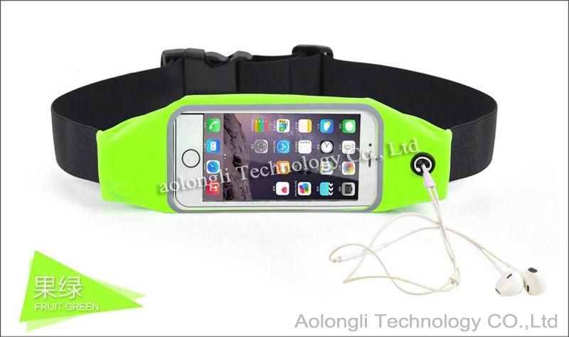 Universal Sports Waterproof Phone Pockets Waist Belt Armband Bag Cases Pouch With Clear View Touch For iPhone 5s 6Plus Galaxy s5 S6 Edge