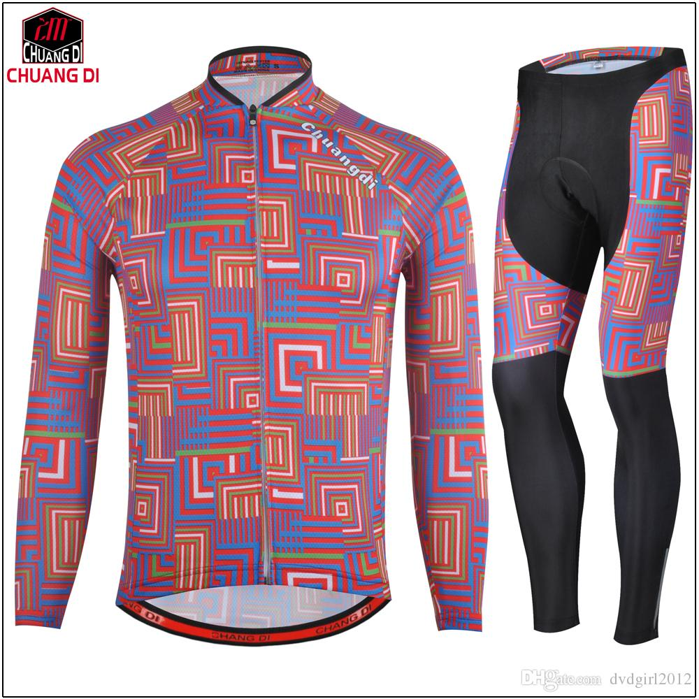 Hot Sale Men Cycling jersey Sets Outdoor MTB Windproof Jacket+bib/pants Bike Thermal Fleece Suits Long Sleeve Cycling Clothing
