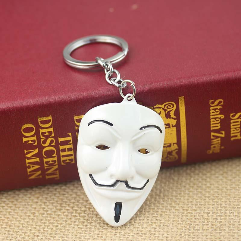 Movie V For Vendetta Keychain ANONYMOUS GUY Mask Metal KeyRing Key Chain  Ring Fob For Fans Leather Key Holder Tritium Keychain From A531205967 1767b8ef3ee7