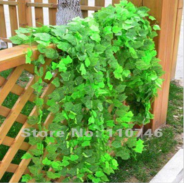Beautiful Green Grape Leaves Vine Ivy Simulation Plastic Flower Artificial Plants For Wedding Home Decor
