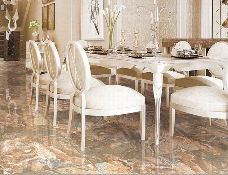 Ceramic Floor Tiles Dining Room Living Tile 800X800 Home Building Waterproof Anti Skid Function