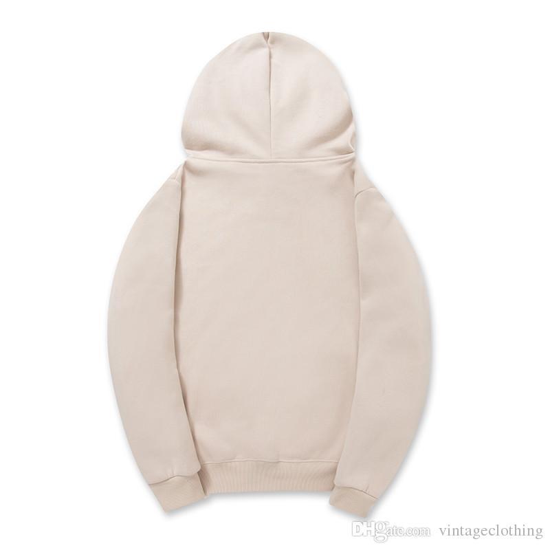 Sonbahar Kış erkek Tasarımcı Hoodie Erkekler Katı Sıcak Polar Kadife Kapşonlu Hoodies Mektup Baskılı Kazak S-2XL Boyutu