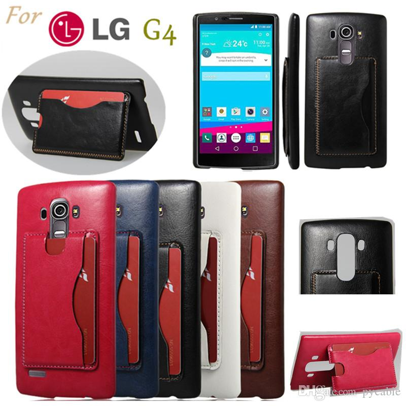 Etui Pour Mobile LG G4 Flip Stand Portefeuille Titulaire De Carte Slots En Cuir Couverture Telephone Cas G3 Mini Leon MOTO G Stylus
