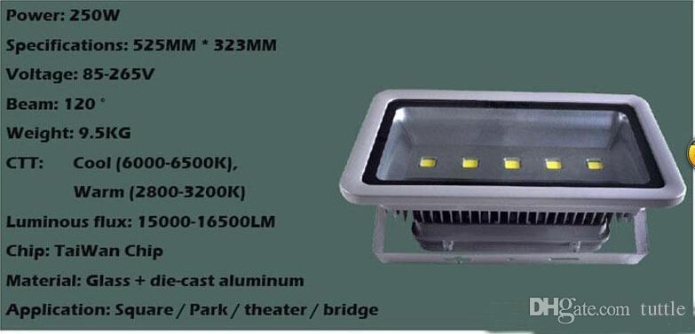 무료 Shippi 250W 투광 조명 방수 야외 주도 캐노피 빛 주유소 조명 Led 홍수 조명 AC 85-265V